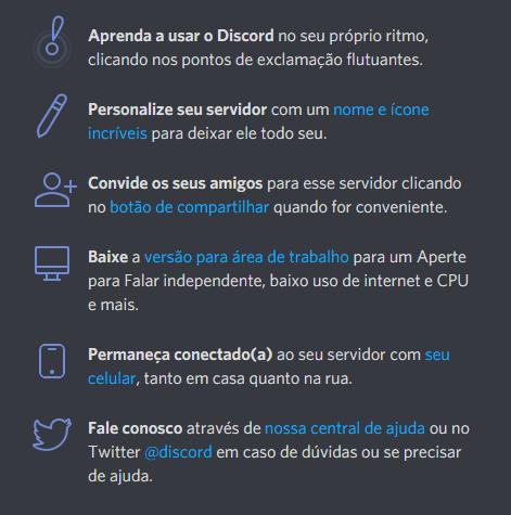 Recursos do Discord