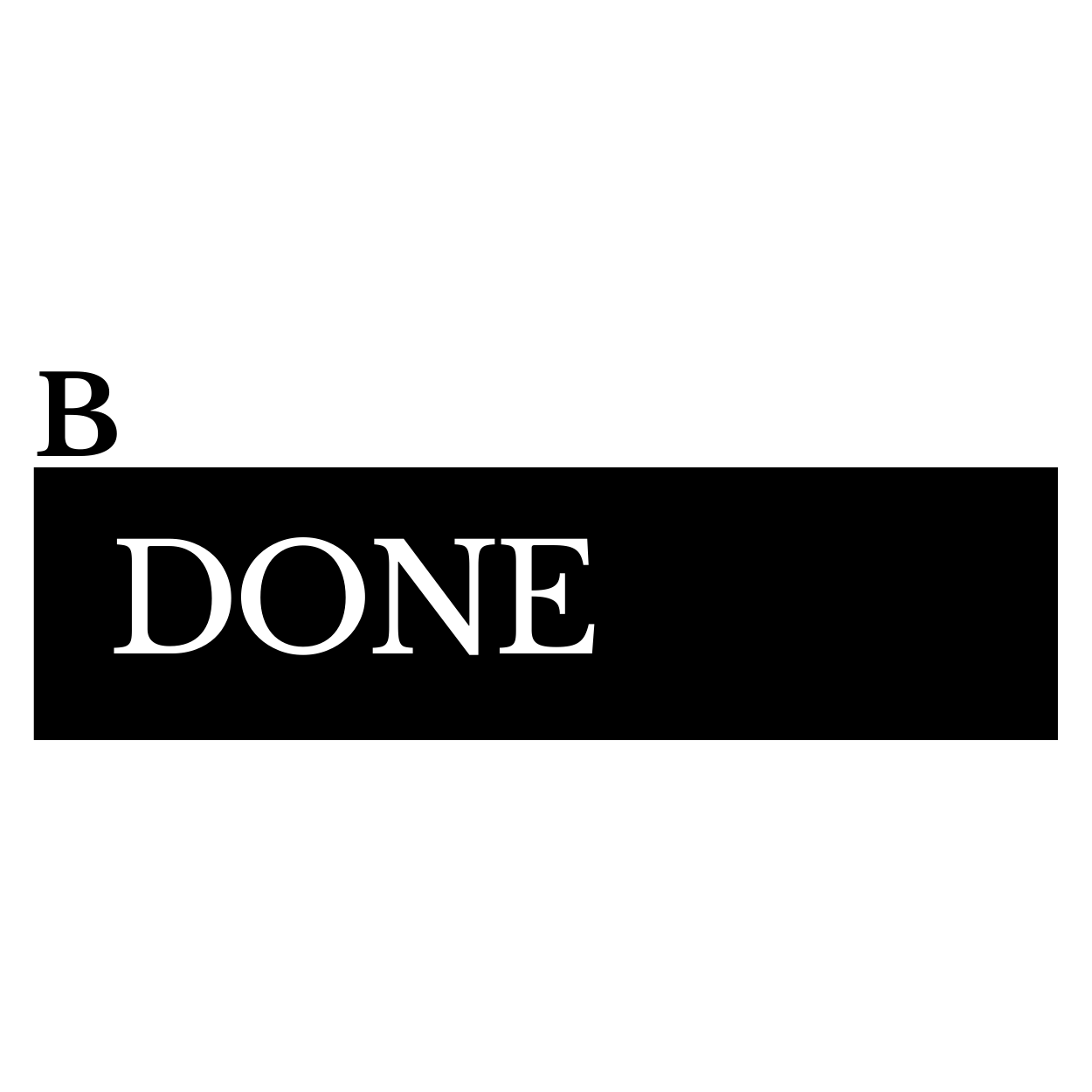 B.done