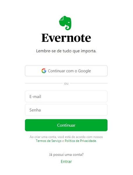 Como usar o Evernote