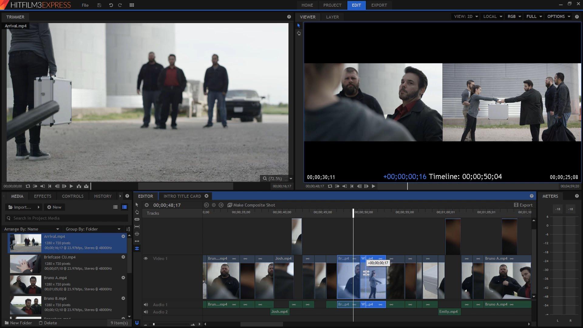 Hitfilme Express ferramenta de edição de vídeos