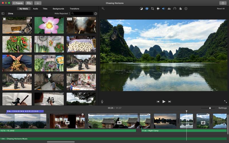 iMovie ferramenta de edição de vídeos