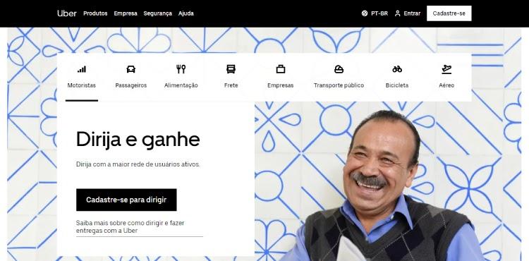 Landing Page Uber